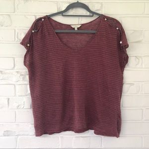 Lucky Brand Striped Short Sleeve Tee Size XS